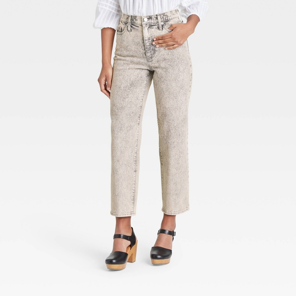 Women 39 S High Rise Vintage Straight Cropped Jeans Universal Thread 8482 Gray Wash 16 Long