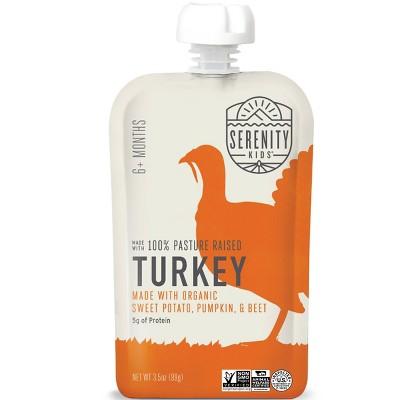 Serenity Kids Pasture Raised Turkey with Organic Sweet Potato Pumpkin & Beet Baby Meals - 3.5oz