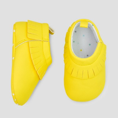 Baby Moccasin Shoes - Cloud Island™ Yellow 0-3M