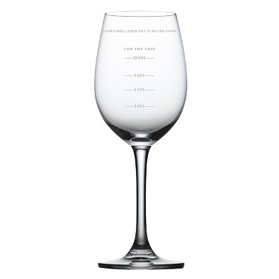 SAUCED™ Measuring Wine Glass, 12 oz. clear crystal