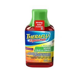 Theraflu ExpressMax Nighttime Severe Cold & Cough Relief Liquid - Acetaminophen - Berry - 8.3 fl oz