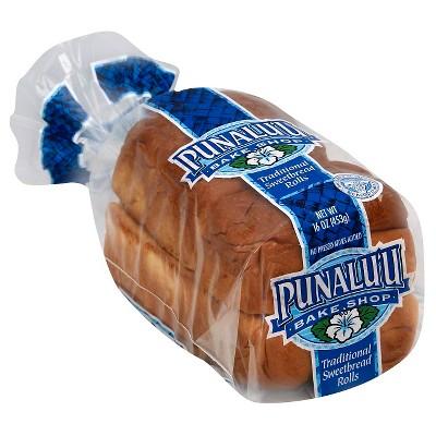 Punalu'u Bake Shop Traditional Sweetbread Rolls - 16oz