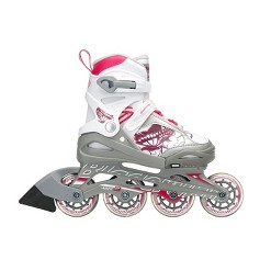Rollerblade Bladerunner Phoenix Girls Adjustable Fitness Inline Skate Size 11J-1