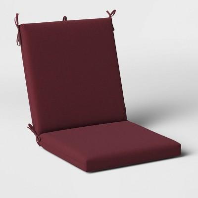 Woven Outdoor Chair Cushion DuraSeason Fabric™ Merlot - Threshold™