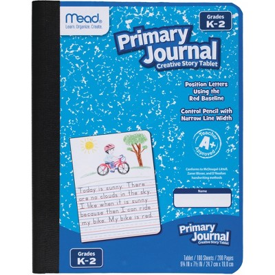 "Mead Primary Journal Composition 100 Sht 7.5""x9.8"" 12/CT AST 09554CT"