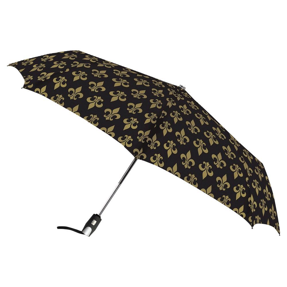Auto Open Compact Umbrella - Fleur De Lis Print, Black Auto Open Compact Umbrella - Fleur De Lis Print Color: Black. Gender: Unisex.