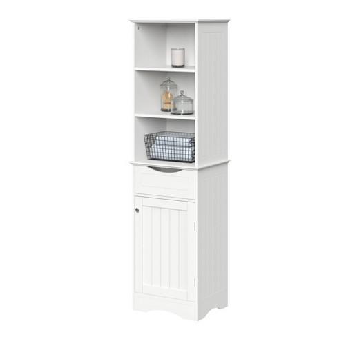 Single Door Beadboard Linen Cabinet