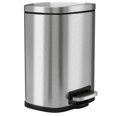 halo quality 1.32gal Premium SoftStep Stainless Steel Step Trash Can