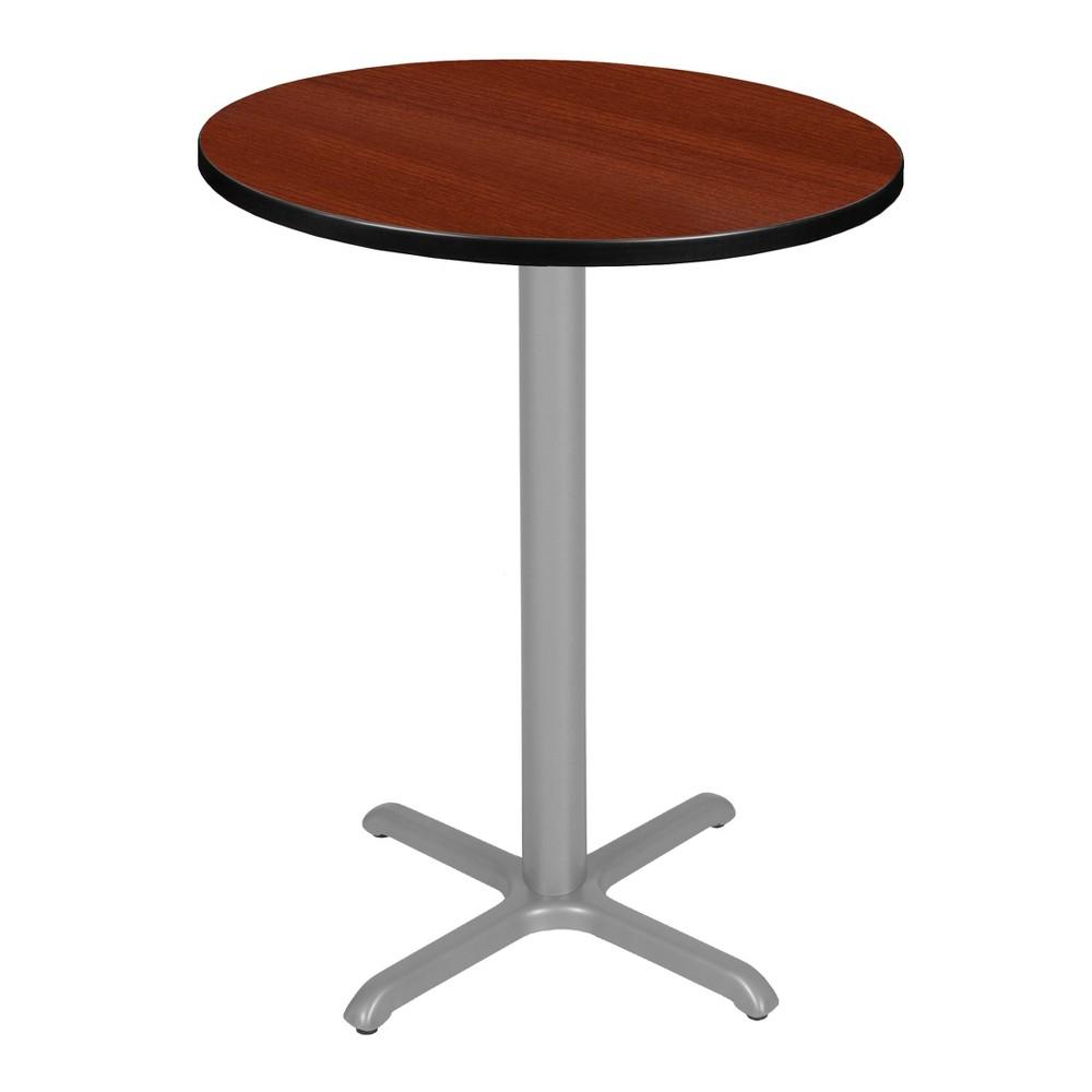 30 Via Cafe High Round X - Base Table Cherry/Gray (Red/Gray) - Regency