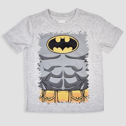215b752f Toddler Boys' 3pk DC Comics Batman Short Sleeve T-Shirt - Black/Blue/Gray :  Target