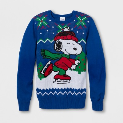 dfd759a7191dc Men s Peanuts Snoopy Skate Long Sleeve Sweater – Royal Blue S ...