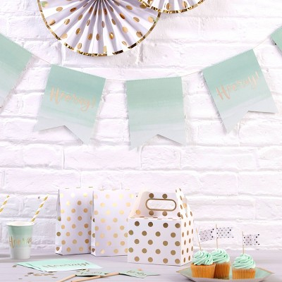 """Hooray"" Bunting Ombre/Mint Green"