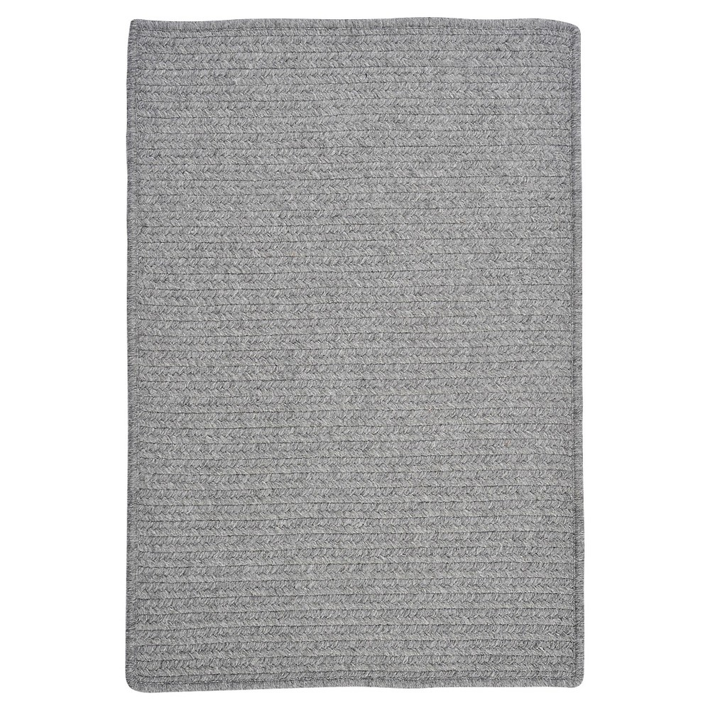 Westminster Wool Blend Braided Area Rug - Light Gray - (5'x8') - Colonial Mills