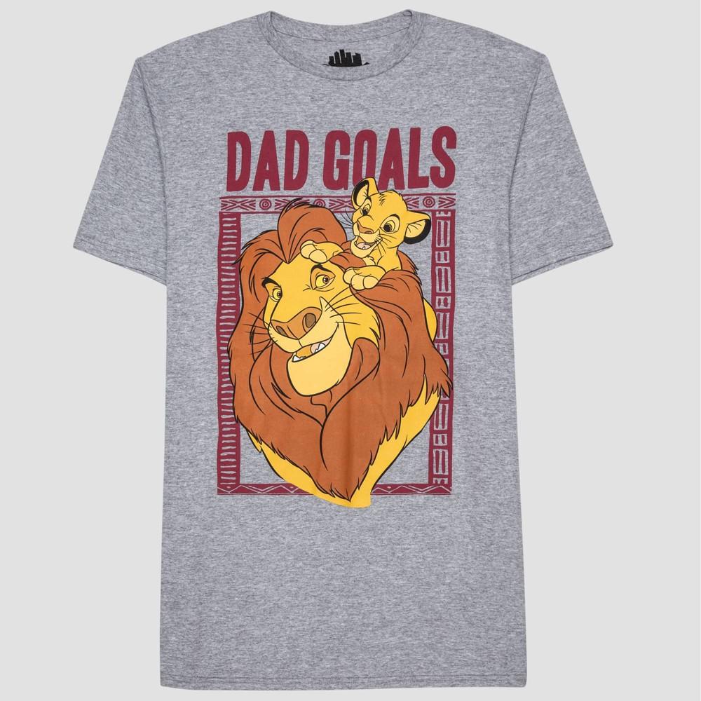 18907e3bc674 Mens Dad Goals Lion King Short Sleeve Graphic T Shirt London Smoke M Gray