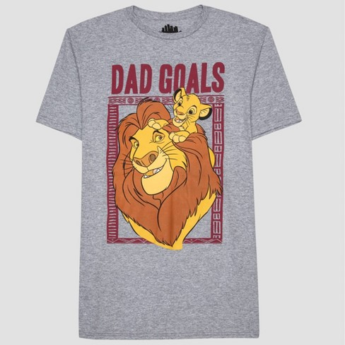 5f3d15fb Men's Dad Goals Lion King Short Sleeve Graphic T-Shirt London Smoke ...