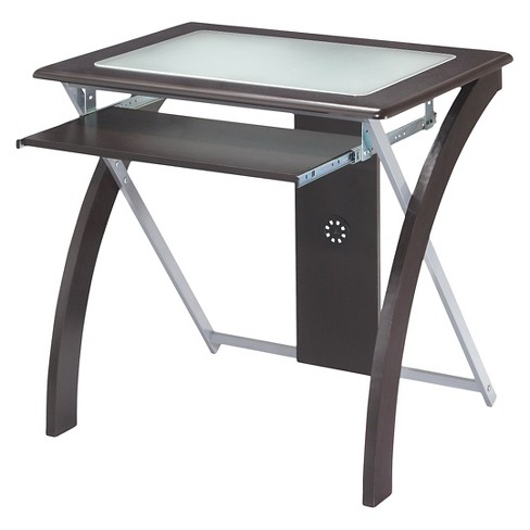 Computer Desk with Frosted Glass - OSP Home Furnishings - image 1 of 3