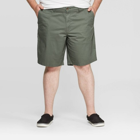 Men's Big & Tall Slim Fit Shorts - Goodfellow & Co™ Sage Leaf - image 1 of 3