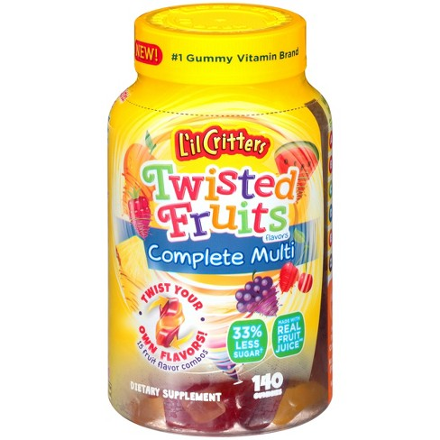 L'il Critters Multivitamin Gummies - Twisted Fruits - 140ct - image 1 of 3