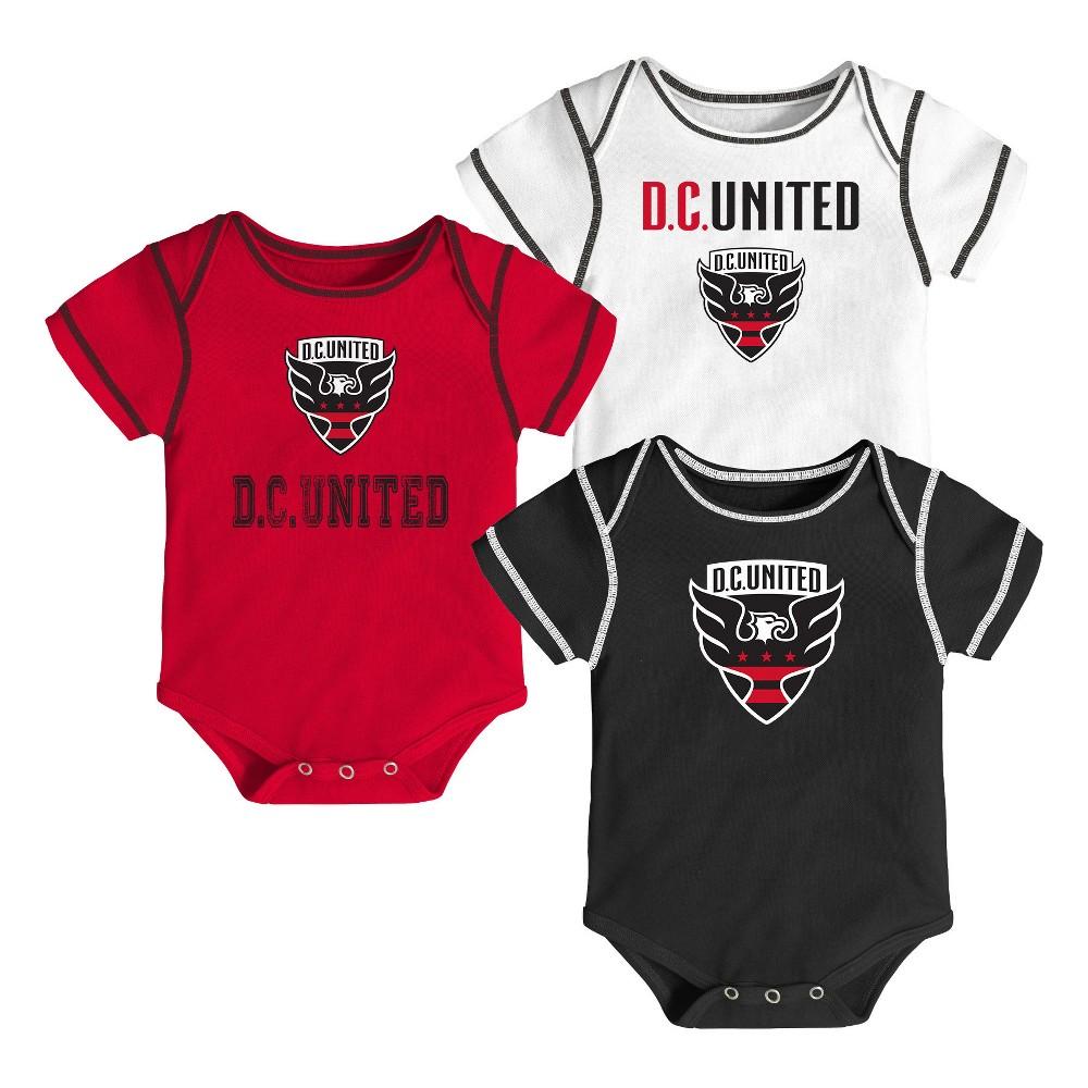 Youngest Fan 3pk Body Suit Set D.C. United 12 M, Kids Unisex, Size: 12M, Multicolored