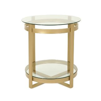 Solidago Modern Coffee Table Brass - Christopher Knight Home