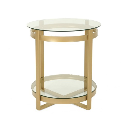 Solidago Modern Coffee Table Brass - Christopher Knight Home - image 1 of 5