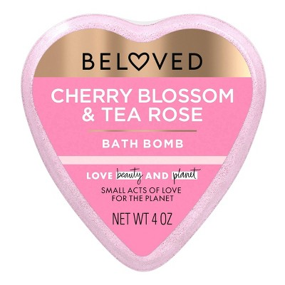 Beloved Cherry Blossom & Tea Rose Bath Bomb - 1ct/4oz