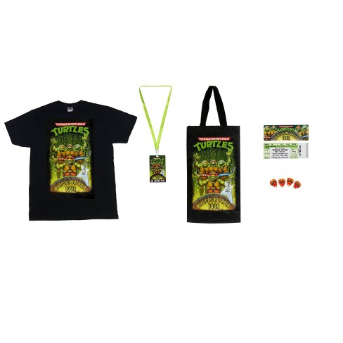 Teenage Mutant Ninja Turtles Musical Mutagen Tour Bundle Figure 4 Pk Tshirt L - image 1 of 4