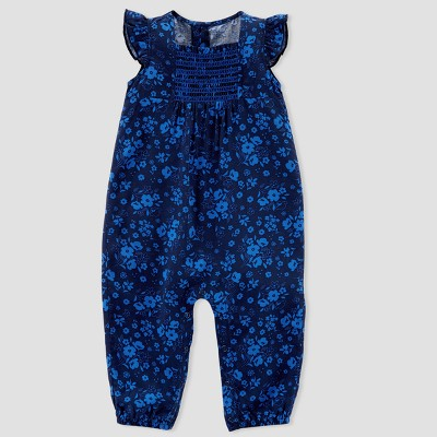 Baby Girls' Floral Jumpsuit - Just One You® made by carter's Blue 9M