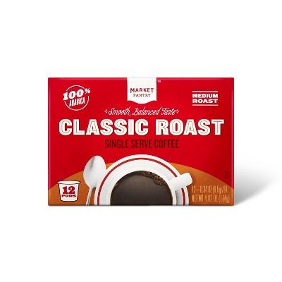 Premium Roast Medium Roast Coffee - Single Serve Pods - 12ct - Market Pantry™