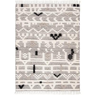 8 X10 Rectangle Wool Area Rug Off White Safavieh Target