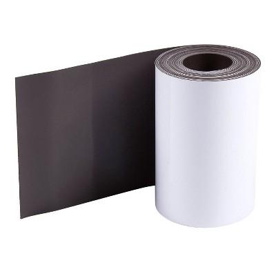 Juvale White Magnetic Tape Roll, Rewritable Dry Erase Whiteboard, 3 in x 10 ft