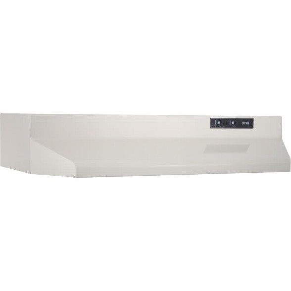 "Broan F4042 White 190 CFM 42/"" Wide Steel Under Cabinet Range Hood with Washable"
