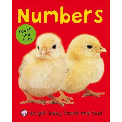 Numbers - (Bright Baby Touch and Feel)by Roger Priddy (Board_book)