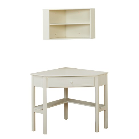 Corner Desk with Hutch - Buylateral - Corner Desk With Hutch - Antique White - Buylateral : Target