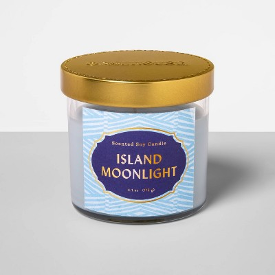 4.1oz Glass Jar Candle Island Moonlight - Opalhouse™