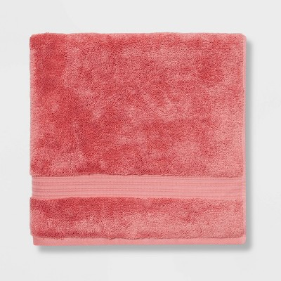 Antimicrobial Oversized Bath Towel Rose Pink - Total Fresh