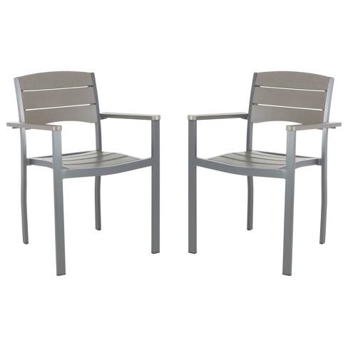 Peachy Gerhardt 2Pk Stackable Accent Chair Grey Safavieh Dailytribune Chair Design For Home Dailytribuneorg
