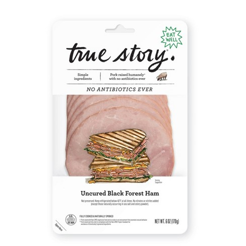 True Story Uncured Black Forest Ham - 6oz - image 1 of 3