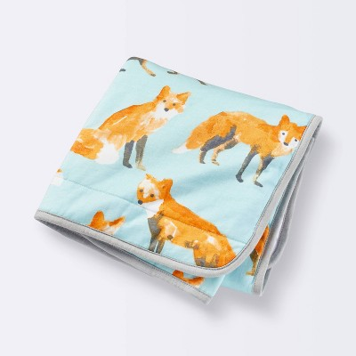 Baby Jersey Knit Blanket - Cloud Island™ Foxes