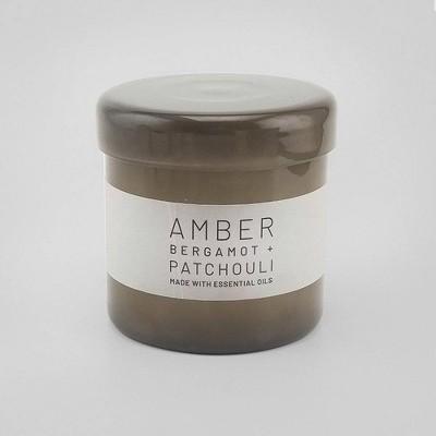 16oz Lidded Glass Jar Candle Amber - Bergamot & Patchouli - Project 62™