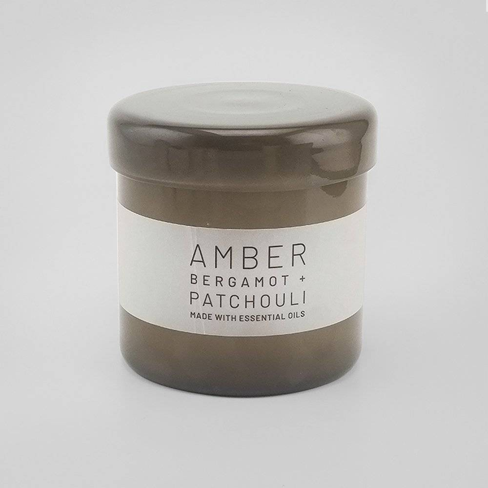 Image of 16oz Lidded Glass Jar Candle Amber - Bergamot & Patchouli - Project 62