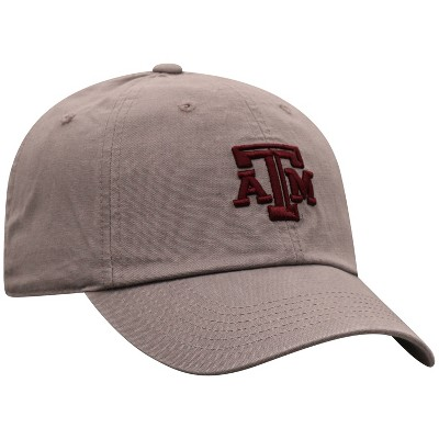 NCAA Texas A&M Aggies Men's Gray Garment Washed Canvas Hat