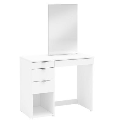 Savannah Vanity with Mirror White - Chique