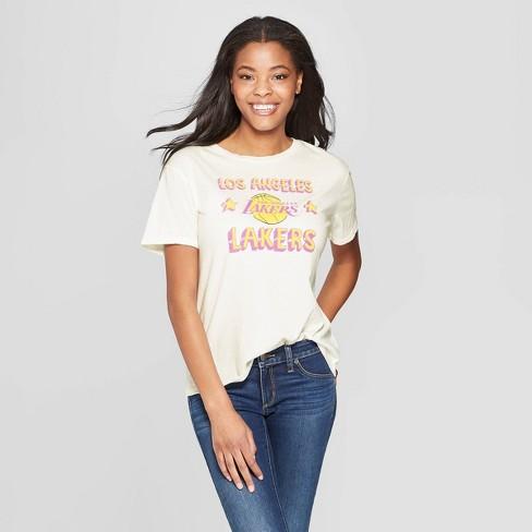 4ef168141ab Women s NBA LA Lakers Short Sleeve T-Shirt - Junk Food (Juniors ...