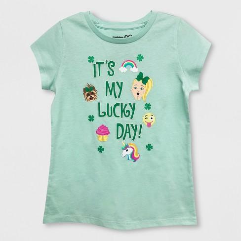 50382977f Girls' JoJo Siwa St. Patrick's Day Short Sleeve T-Shirt - Mint Green ...