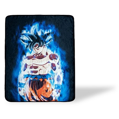 Just Funky Dragon Ball Super Goku Collectible Large Fleece Throw Blanket   60 x 45 Inches