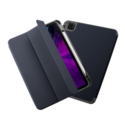 """Insten - Soft TPU Tablet Case For iPad Pro 11"""" 2020, Multifold Stand, Magnetic Cover Auto Sleep/Wake, Pencil Charging, Blue"""