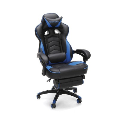 110 Racing Style Gaming Chair Reclining Ergonomic Leather Chair with Footrest - RESPAWN