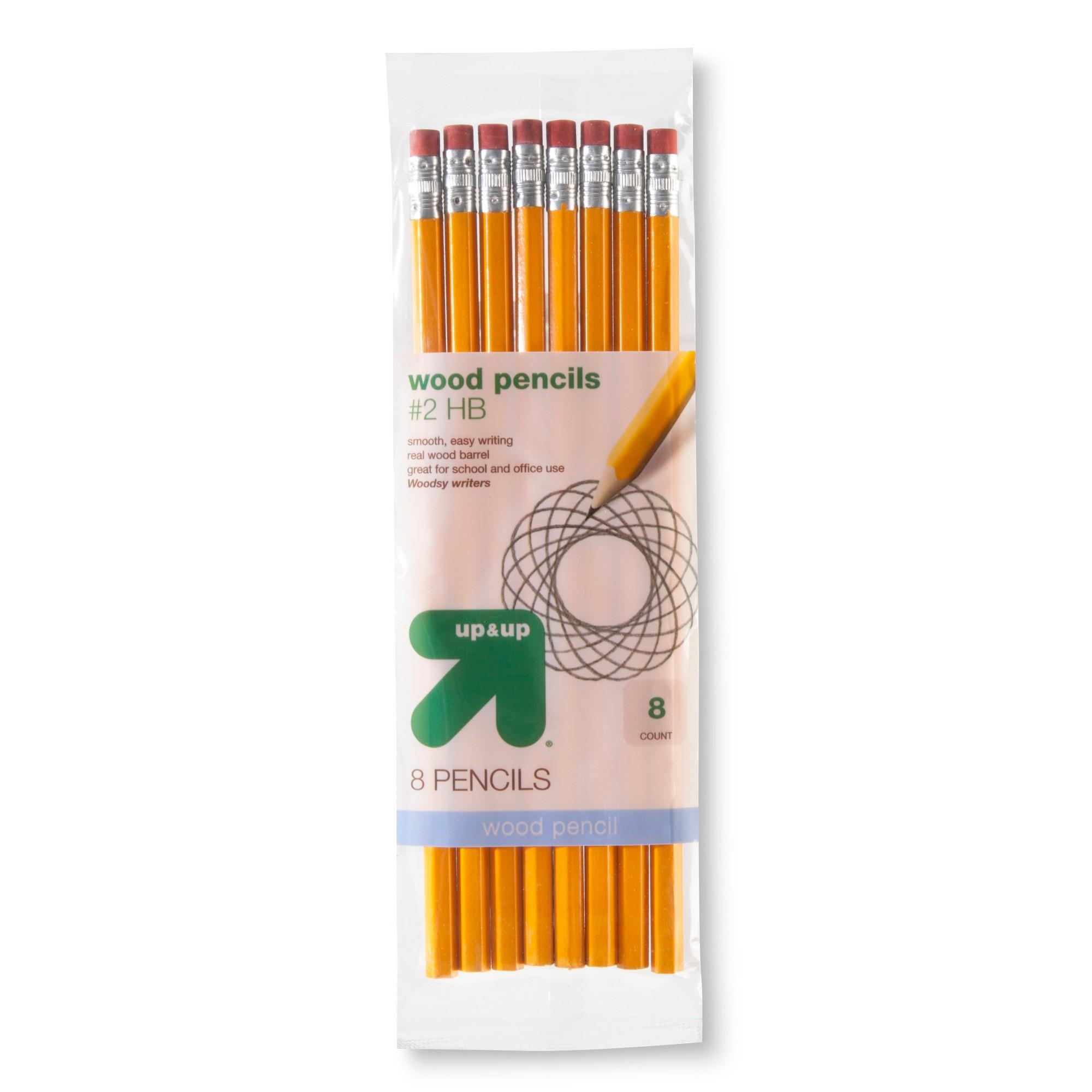 8pk #2 Wood Pencils - Up&Up , Yellow