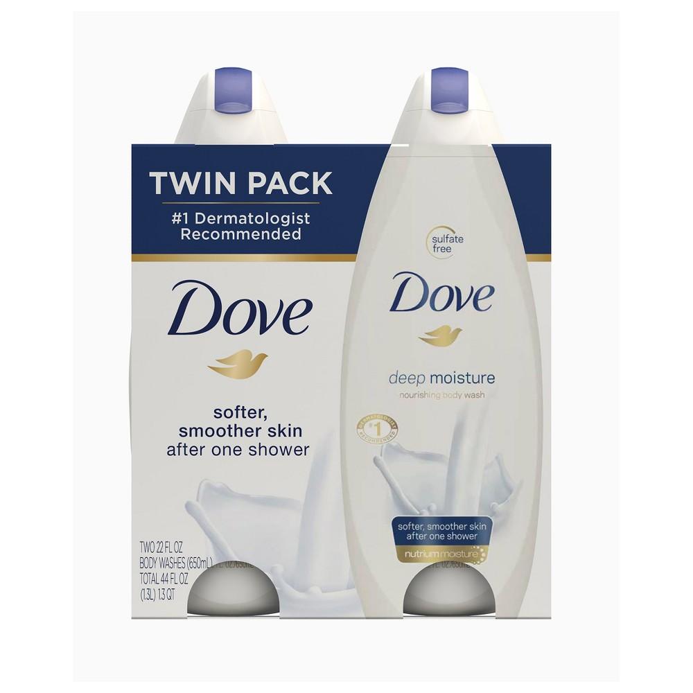 Dove Deep Moisture Body Wash - 22 fl oz/2pk